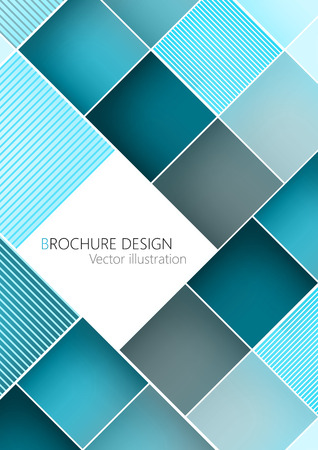 background cover: Business brochure cover design template. Turquoise background Vector. Clip-art