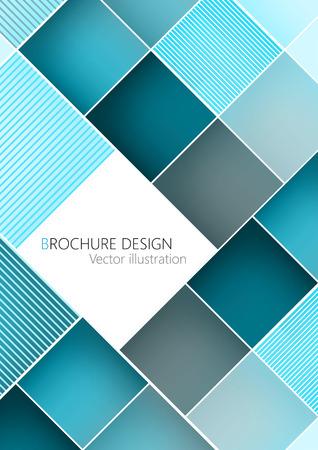turquesa: negocios folleto plantilla de diseño de la cubierta. Turquesa vector. Clipart