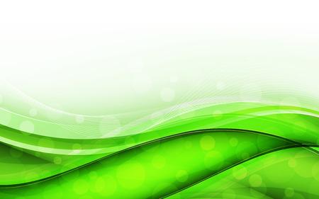 Abstrakte grüne Wellen - Datenstrom-Konzept. Vektor-Illustration. Clip Art