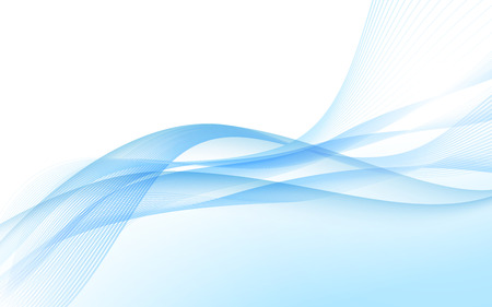 Ondas abstractas del azul - concepto de flujo de datos. Vector. Galería de imágenes Ilustración de vector