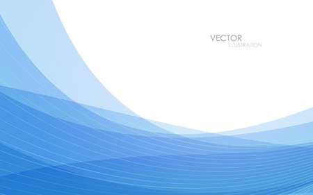 blue waves vector: Abstract blue waves - data stream concept. Vector illustration. Clip-art Illustration