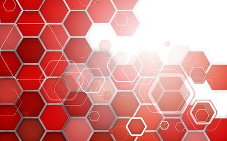Abstraktes rotes Hintergrundhexagon. Vektor-Illustration. Clip Art