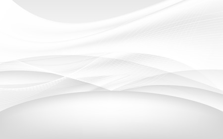 data stream: Abstract white waves - data stream concept. Vector. Clip-art Illustration