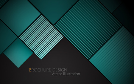 brochure cover design: Business brochure cover design template. Turquoise background