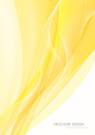 data stream: Abstract yellow waves - data stream concept. illustration. Clip-art Illustration