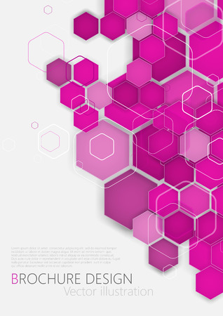 Business brochure cover design template. Pink Background. Clip-art