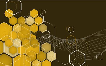 hexagons: Abstract Hexagon Geometrical Background.