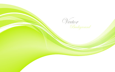 data stream: Abstract green waves - data stream concept. Illustration