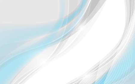 Abstract soft background with blue wave. Vector illustration. Clip-art