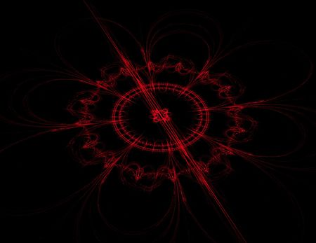 Abstract red compass design