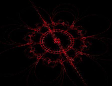 Astratto rosso bussola progettazione