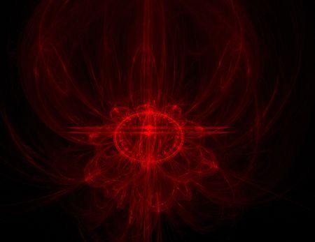 抽象的な赤いフェニックス デザイン