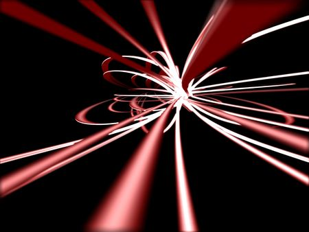 Red on black abstract Stock Photo