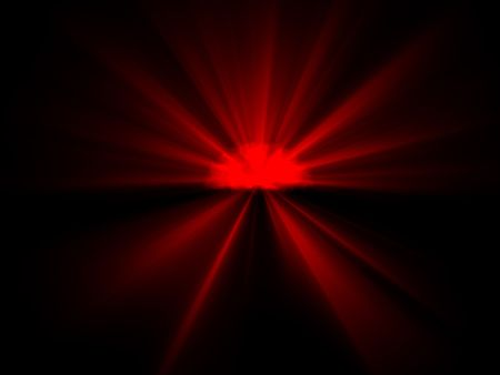 Exploding rotes Licht
