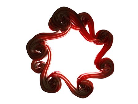 Abstract Red Star Frame
