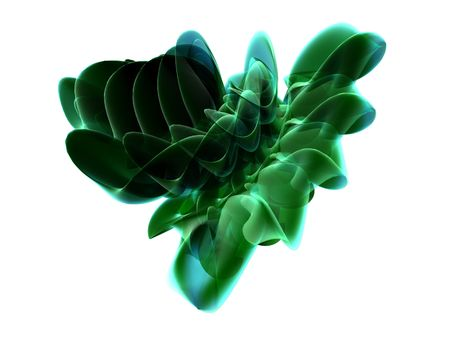 Shiny Green Abstract Background Stock Photo
