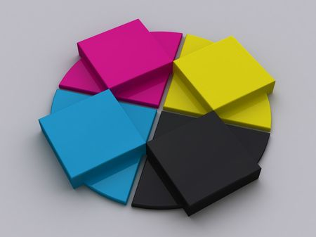 CMYK Objects Stock Photo