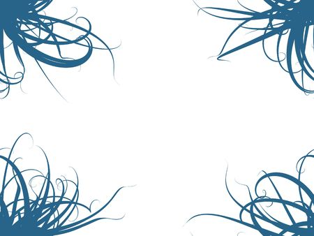 Abstract Blue on White Background Stock Photo