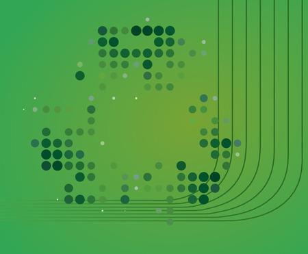 Zusammenfassung gr�nen Hintergrund  Illustration