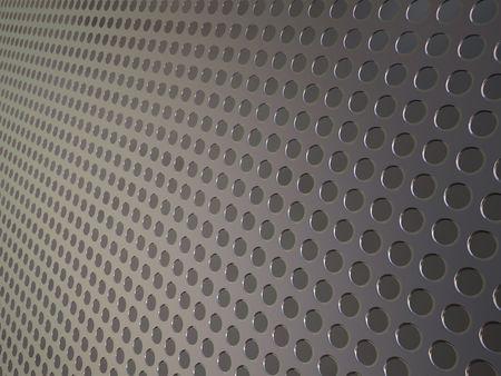 Griglia metallica perforata, industriale sfondo