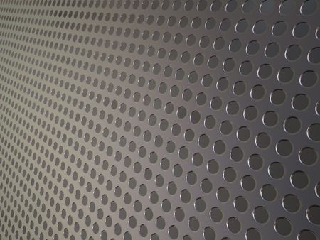 perforated: Perforated metallic grid, industrial background