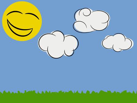 Stilisierte Sunny Day