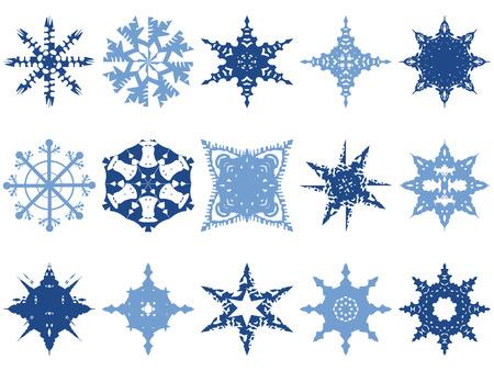 Snowflake Icons Vector