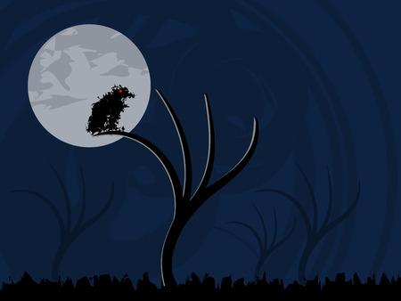 Spooky Halloween-Hintergrund Illustration