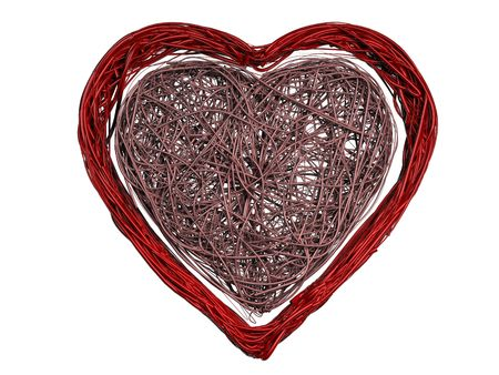 3D Rendered Wire Heart - Isolated photo
