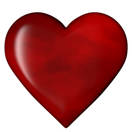3D Rendered Heart, Isolated on White