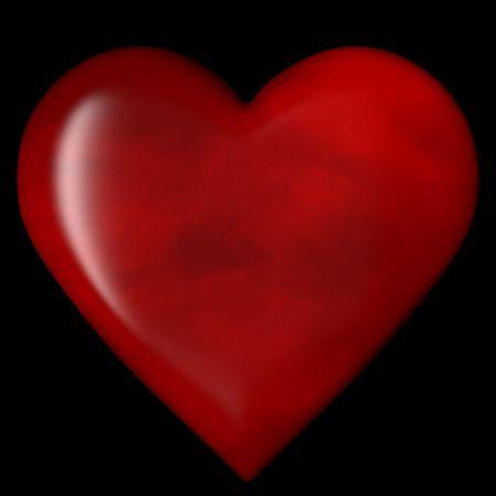 3D-Herz auf Schwarz