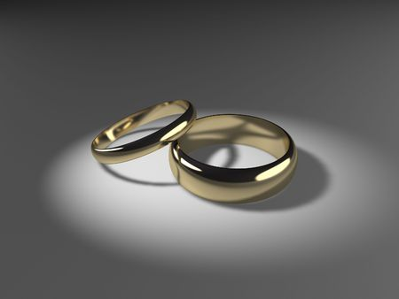 His and Hers Wedding Bands Stock Photo - 3551151