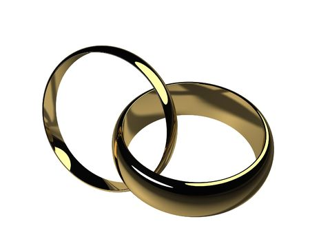 His and Hers Wedding Bands - Isolated Imagens