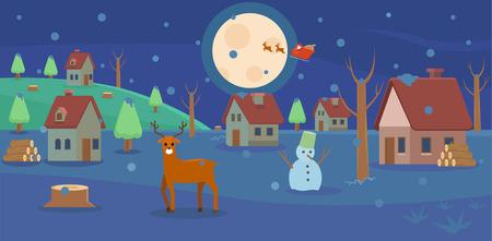 Winter on christmas
