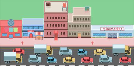 Isometric traffic jam.