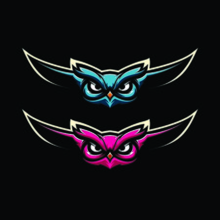 OWL GAMING MASCOT LOGO VECTOR ILLUSTRATION