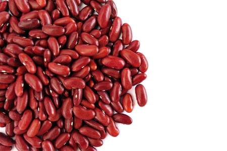 azuki bean: red bean white background Stock Photo