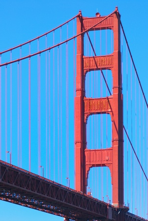 Zoom Golden Gate Bridge from Fort Point, San Francisco photo