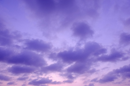 purple sky and cloud pattern background Stock Photo