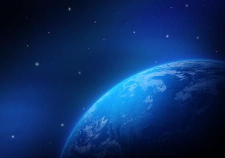 Globe in space photo