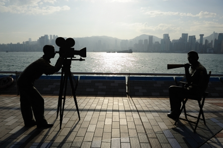 Avenue of star and the city, Hong kong photo