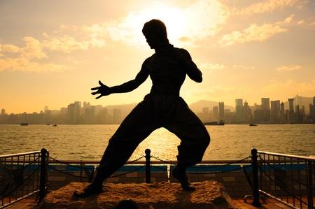 Bruce Lee at avenue of star, Hong kong