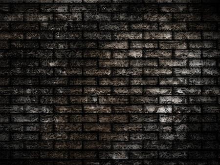 contrasty: dark grunge brick background Stock Photo