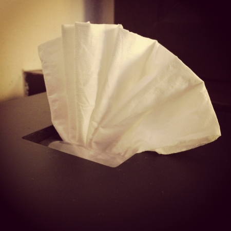 tissue box retro style photo
