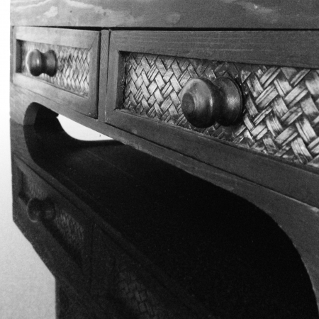 Ancient drawer in black and white photo