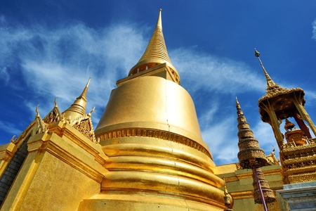 Golden temple in Thailand Stock Photo