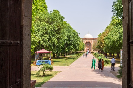 Bu Halima Gateway and West Entrance Portal to Humayuns Tomb and Square. UNESCO World Heritage in Delhi, India. Asia.
