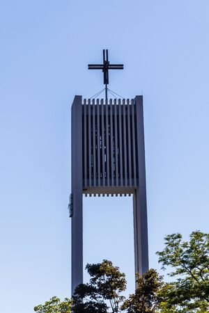 Municipal Germering, District Fürstenfeldbruck, Upper Bavaria, Germany: Details of the Tower of Church St. Martin