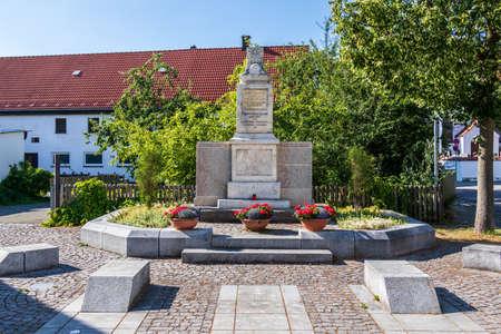 Municipal Germering, District Fuerstenfeldbruck, Upper Bavaria, Germany: Panorama of Ehrendenkmal Monument 新闻类图片