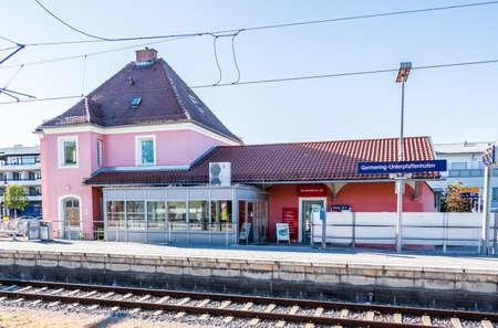 Municipal Germering, District Fuerstenfeldbruck, Upper Bavaria, Germany: Main Station of Germering-Unterpfaffenhofen